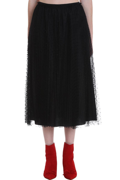 RED Valentino Skirt In Black Cotton
