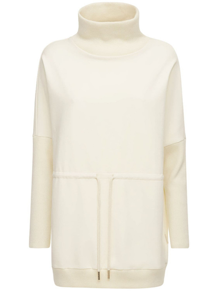 VARLEY Adelaine Cotton Sweatshirt in white
