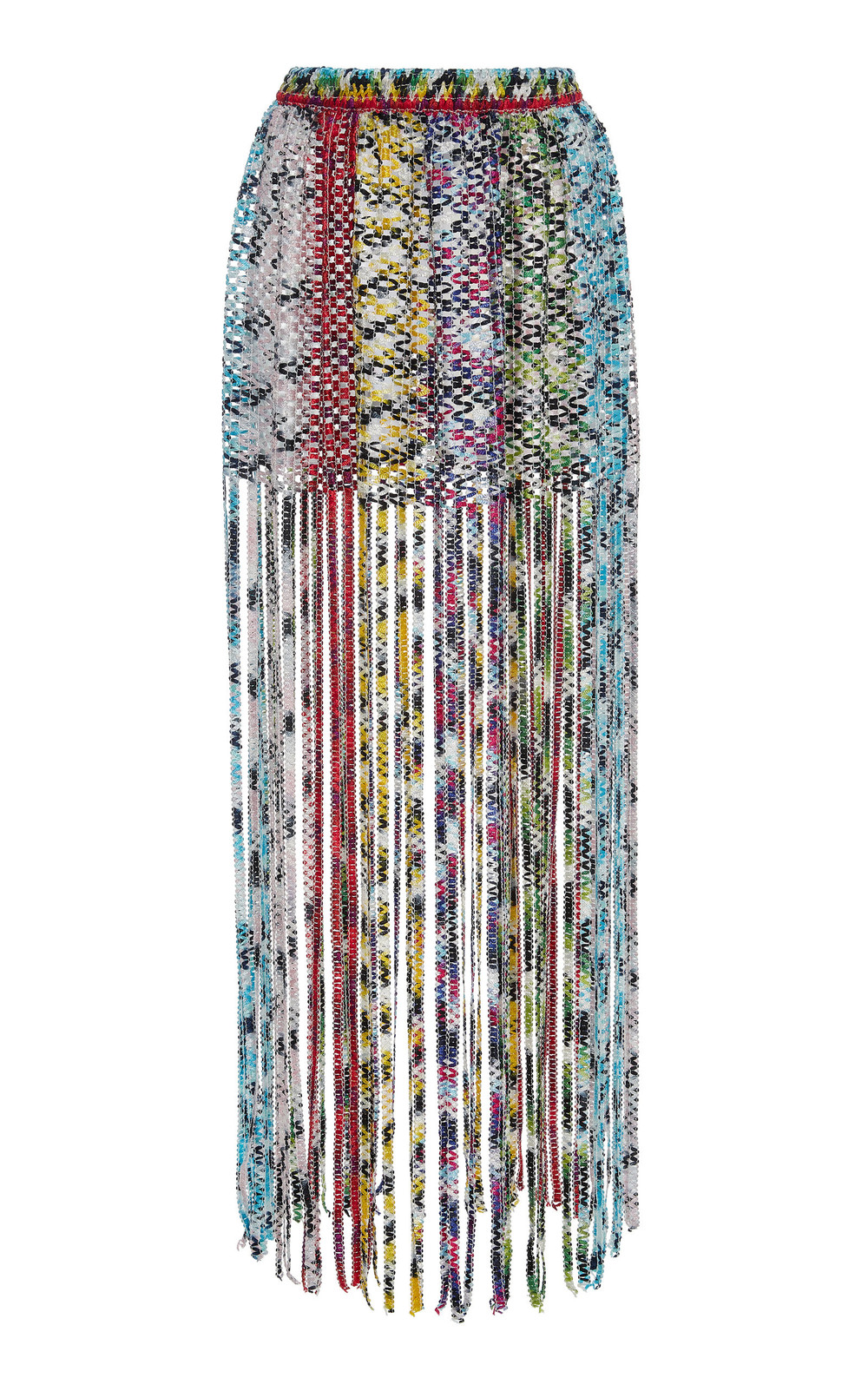 Missoni Mare Fringed Woven Mini Skirt in multi