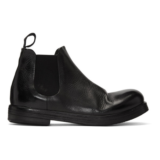 Marsèll Black Zucca Zeppa Beatles Chelsea Boots