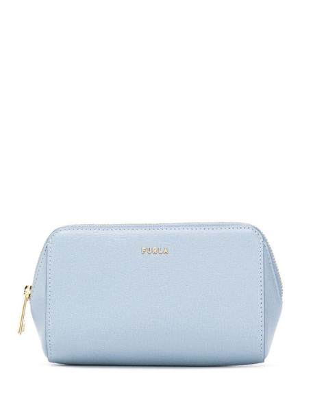 Furla top zip fastening purse in blue