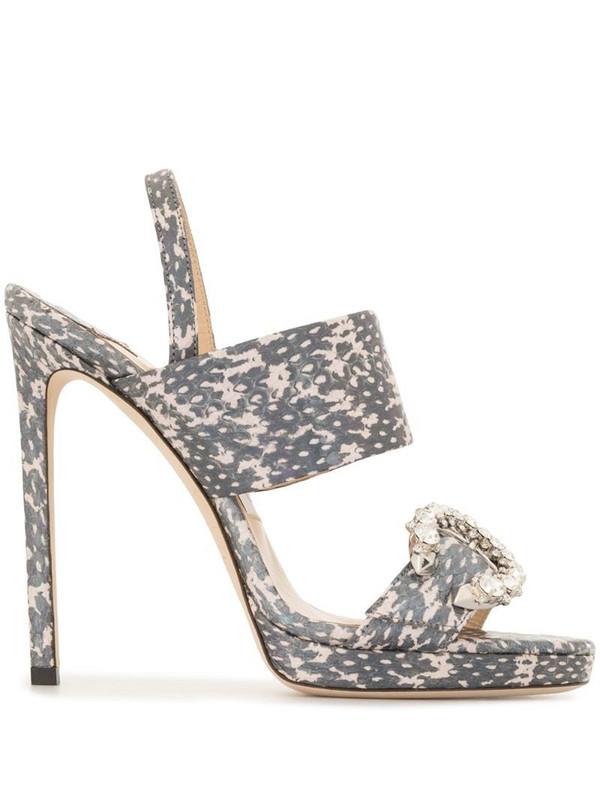 Jimmy Choo Saphie sandals in metallic
