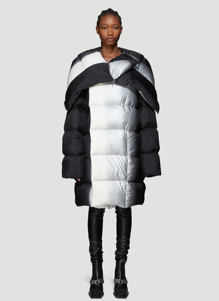 Rick Owens Spray Paint Padded Coat in Black size IT - 40