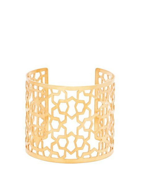 Pippa Small Turquoise Mountain - Firbaa 18kt Gold Plated Cuff - Womens - Gold