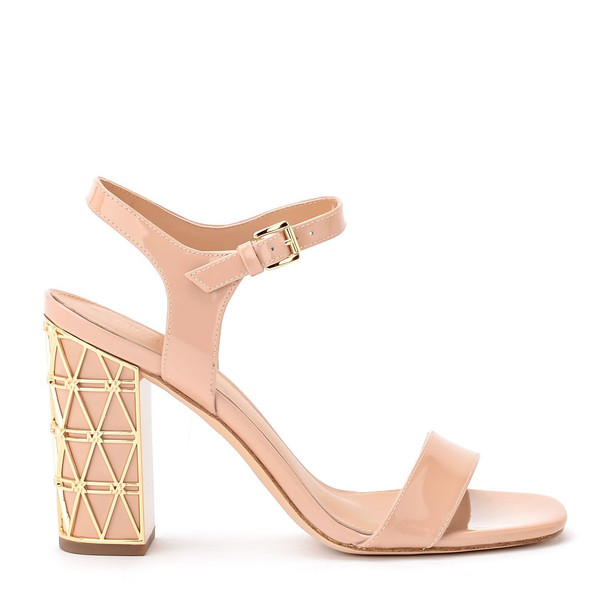 Michael Kors Beekman Pale Pink Patent Leather Sandal