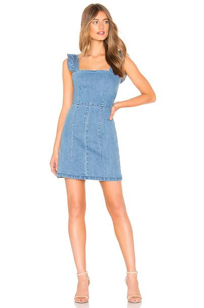 Show Me Your Mumu Ruthie Ruffle Dress in blue
