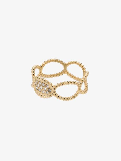 Kimai 18K yellow gold Ray diamond ring
