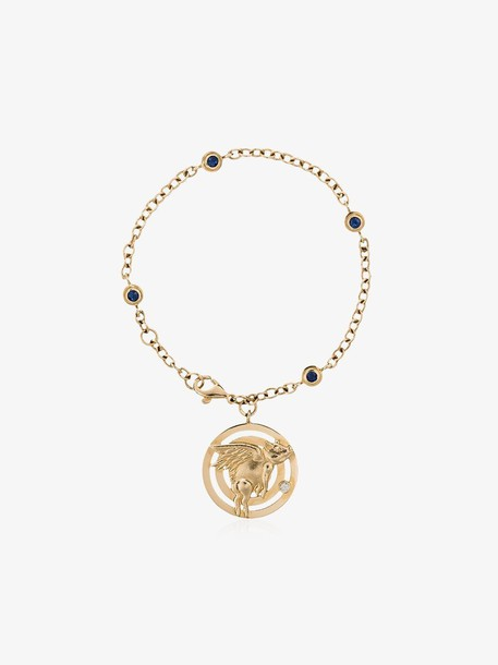 Retrouvai 14K yellow gold flying pig chain bracelet