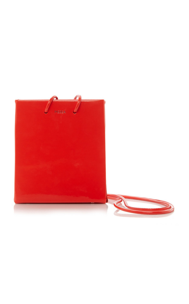Medea Short Vinyl Shoulder Bag in red