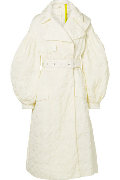Moncler Genius - 4 Simone Rocha Dinah Belted Broderie Anglaise Shell Coat - Cream