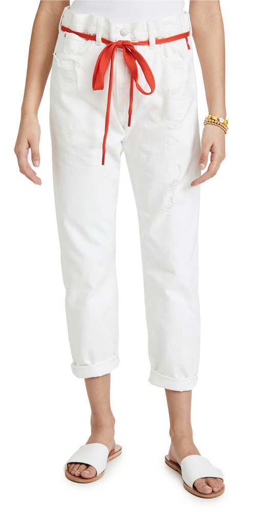 Denimist Harper Shoelace Jeans in white