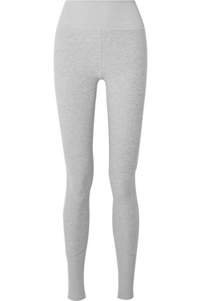 Alo Yoga - Lounge Mélange Stretch-jersey Leggings - Light gray