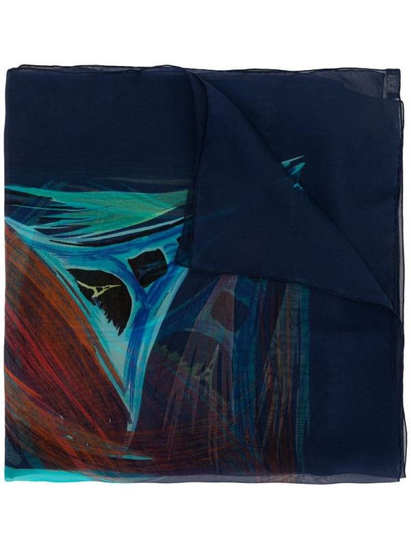 Hermès pre-owned Eiffel Tower scarf in blue