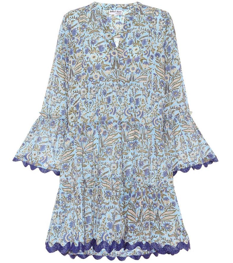 Juliet Dunn Floral cotton minidress in blue