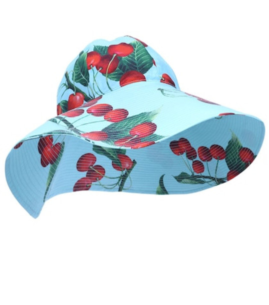 Dolce & Gabbana Exclusive to Mytheresa – cherry printed cotton hat in blue