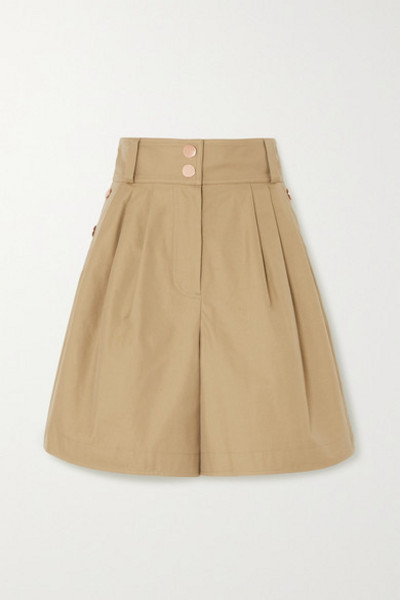 See By Chloé See By Chloé - Button-detailed Cotton-twill Shorts - Beige