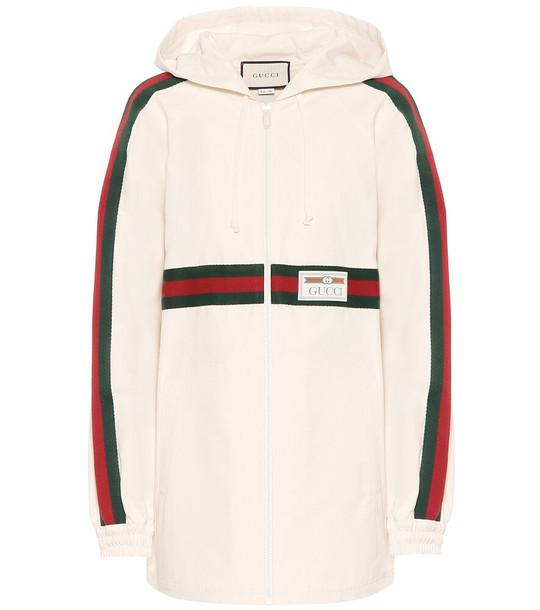 Gucci Cotton jacket in beige