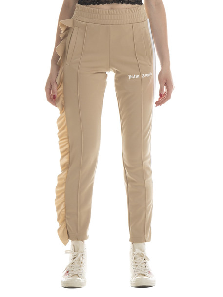 Palm Angels Rouches Track Pants in ecru