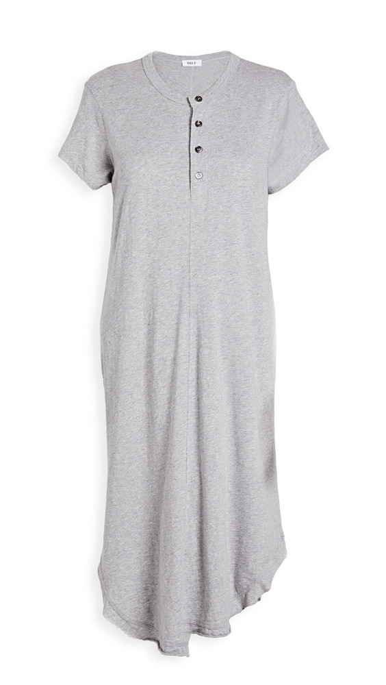 Wilt Shifted Henley Dress in grey