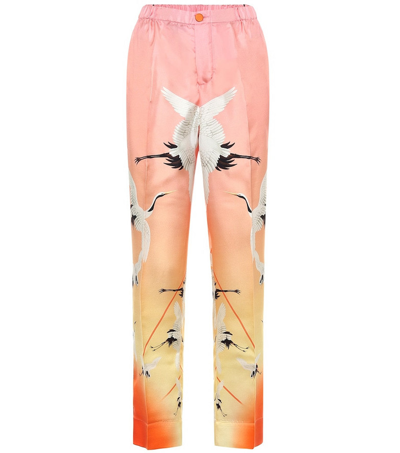 F.R.S For Restless Sleepers Etere printed silk pajama pants