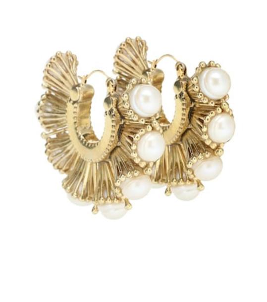 Ellery Nobel pearl hoop earrings in gold