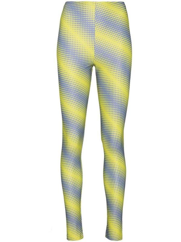 Maisie Wilen diagonal stripe print leggings in green