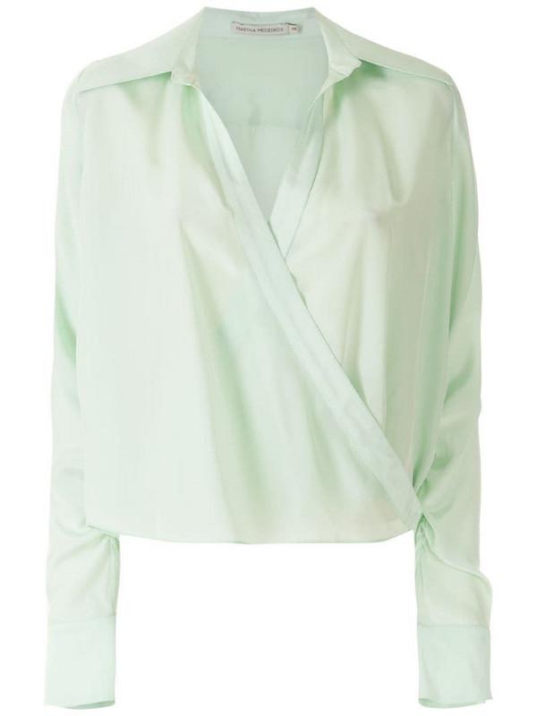 Martha Medeiros Andrea silk shirt in green