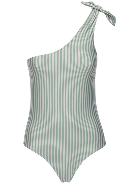 UNDERPROTECTION Lvr Sustainable Mannon Swimsuit in mint / white