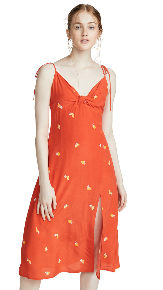 ASTR the Label Brigette Dress in orange / print