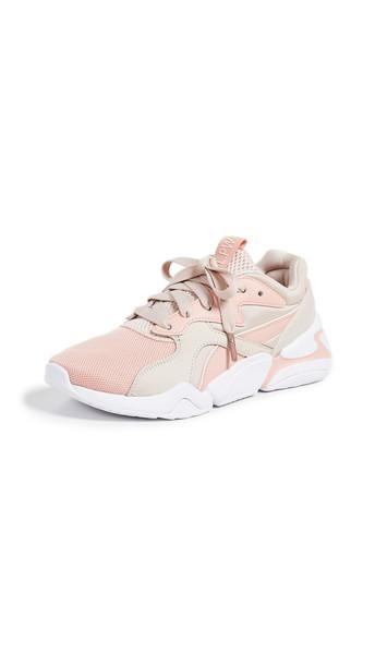 PUMA Nova Girl Power Sneakers in peach blush Wheretoget