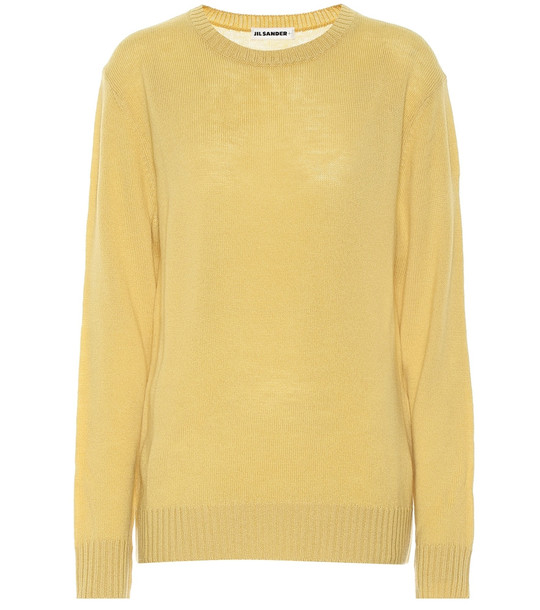 Jil Sander Virgin wool sweater in yellow