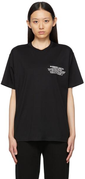 Burberry Black Location Print T-Shirt