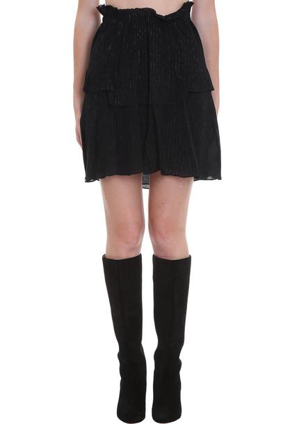 Isabel Marant Meline Skirt In Black Cotton