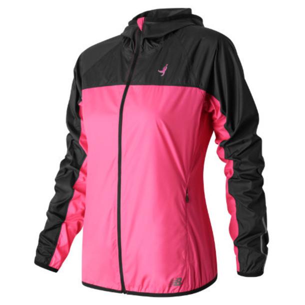 New Balance 53111 Women's Pink Ribbon Windcheater Jacket - Pink/Black (RWJ53111AKK)