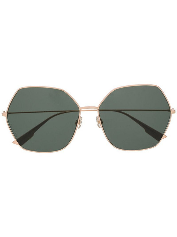 Dior Eyewear DiorStellaire8 angular-frame sunglasses in gold