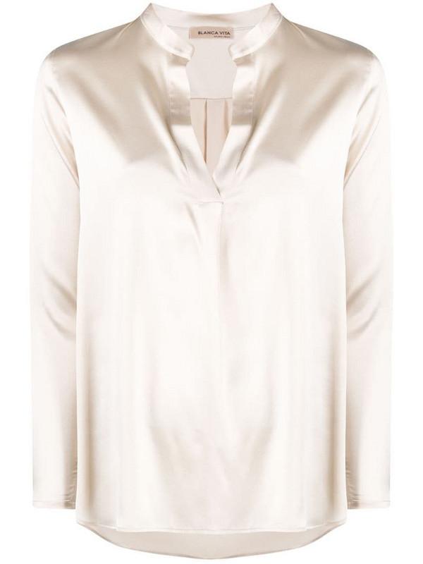 Blanca Vita Brenda blouse in neutrals