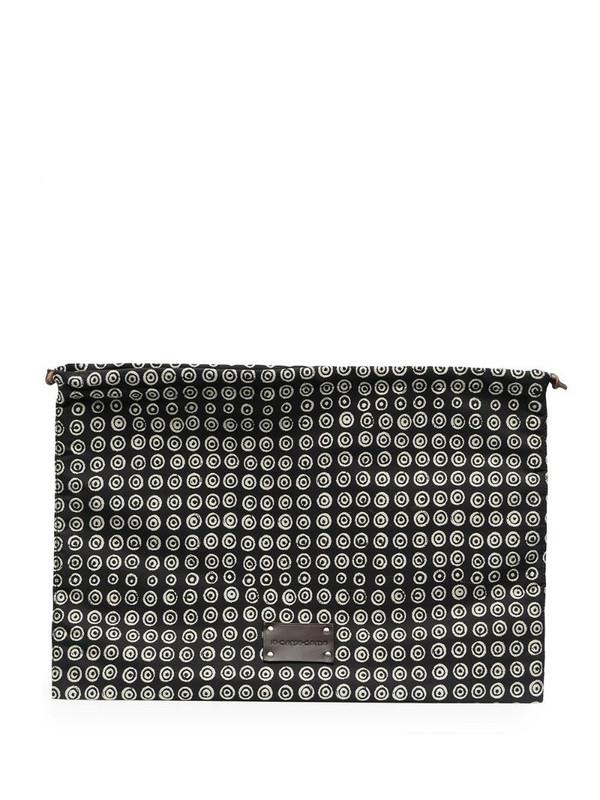 10 CORSO COMO all-over print wash bag in black
