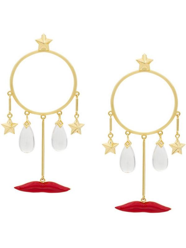 Eshvi circle drop earrings in gold