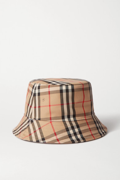 Burberry - Checked Cotton-twill Bucket Hat - Beige