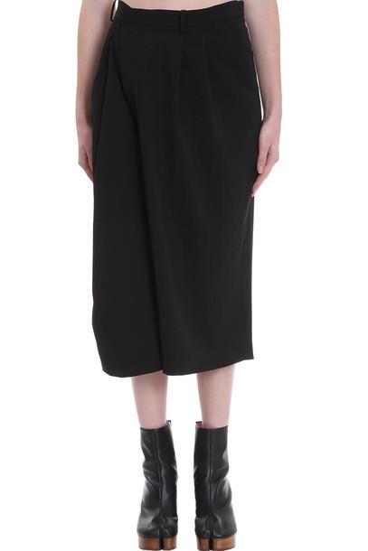 Maison Margiela Shorts In Black Wool