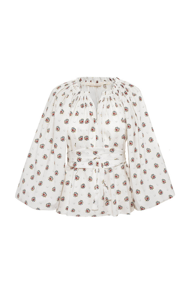 Anna Mason Bardot Cotton Blouse in multi