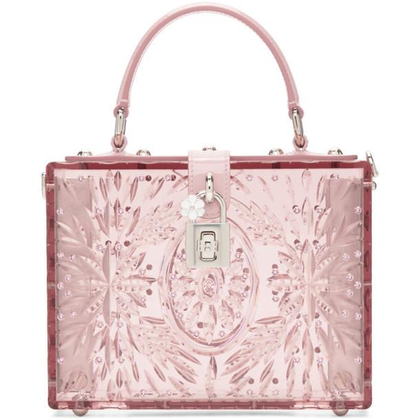 Dolce and Gabbana Pink Cinderella Plexiglass Box Bag