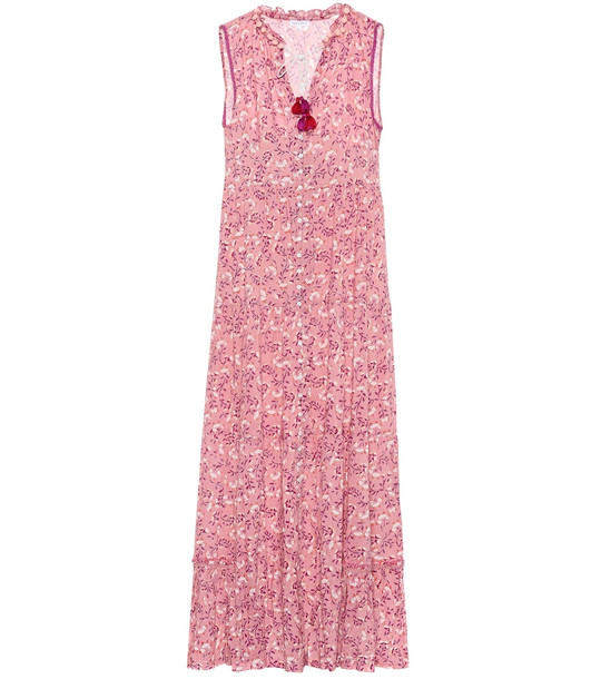 Poupette St Barth Clara floral maxi dress in pink