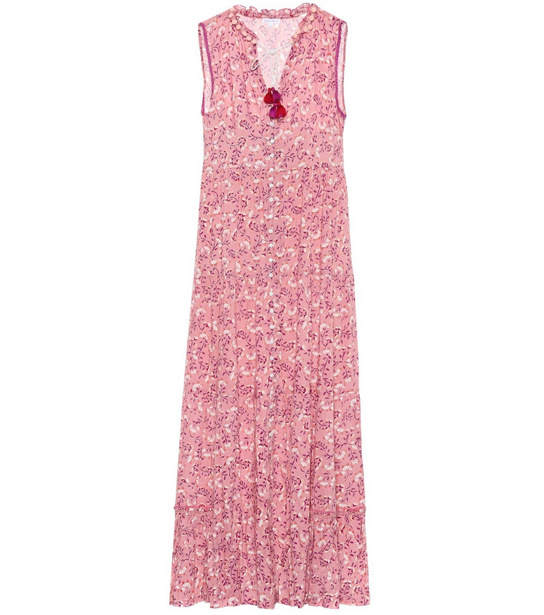 Poupette St Barth Clara floral maxi dress in pink