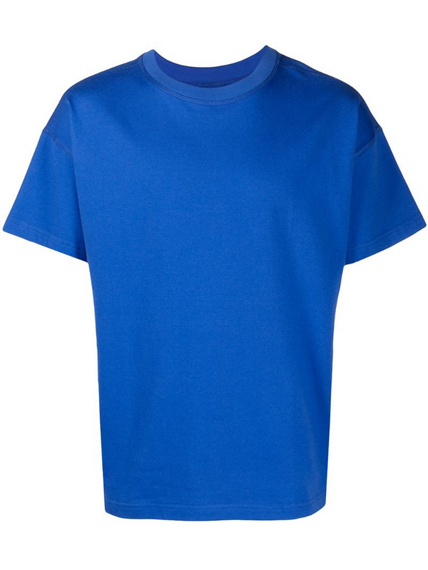 Styland embroidered logo T-shirt in blue