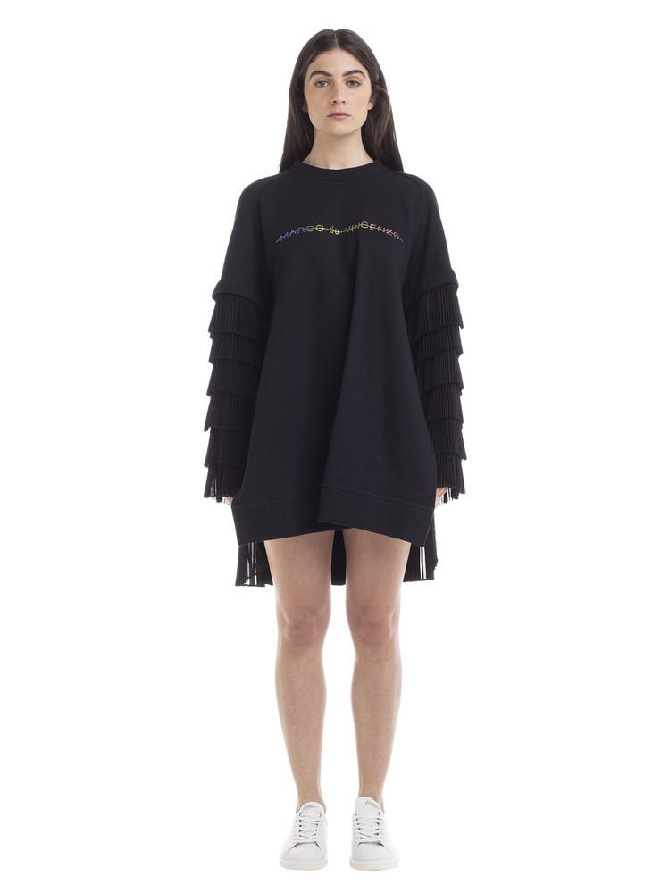 Marco de Vincenzo Marco De Vincenzo Oversized Pleated Sweatshirt in black