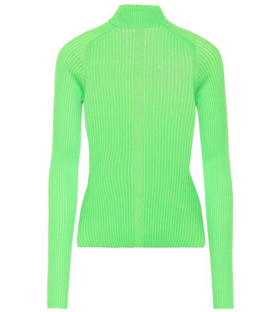 Acne Studios Ribbed turtleneck top in green
