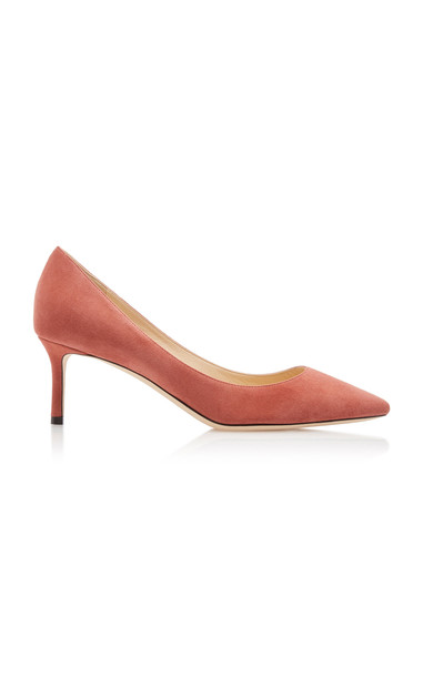 Jimmy Choo Romy Suede Pumps Size: 35 in pink