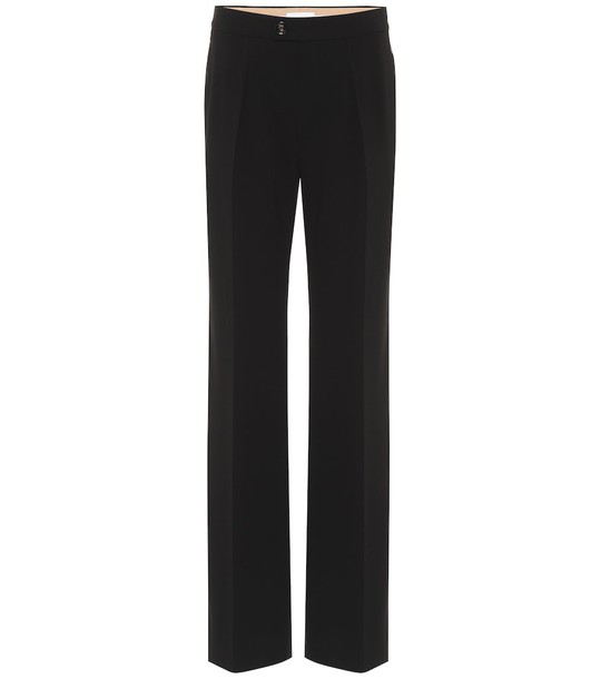 Chloé Mid-rise straight-leg pants in black