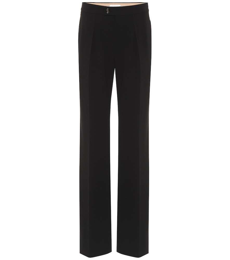 Chloé Mid-rise straight-leg pants in black